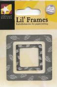 Silver Leaf Frame Metal Lil' Frames for Scrapbooking