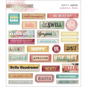 Cashmere Dame Puffy Word Stickers-