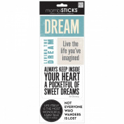 Sayings Stickers 14cm x 30cm Sheet-Dream