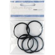 """Kaisercraft - Coloured Album Rings Split Metal 1.38"""" (3.5Cm) 5/Pkg"""