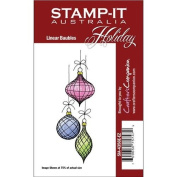Stamp-It Holiday EZMount Cling Stamp Set-Linear Baubles 11cm x 3.8cm