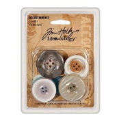 Advantus Corporation Tim Holtz Idea-ology Accoutrements Shabby Buttons