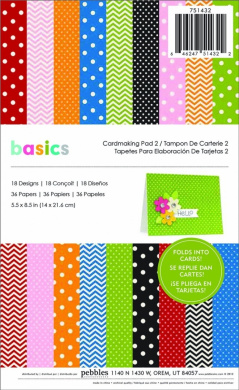 Pebbles Basics Cardmaking Pad 2