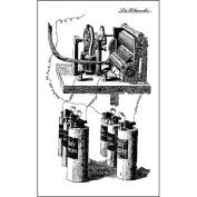 LaBlanche Silicone Stamp 6.4cm x 10cm -Battery Run