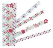 Martha Stewart Crafts Die-cut Border Stickers, Stitched