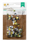 American Crafts DIY Shop Sequins for Scrapbook, 5ml, Gold/Silver/Black/White