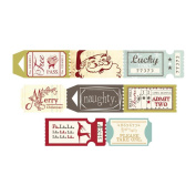 Fancy Pants Merry Little Christmas Ticket Roll Embellishments