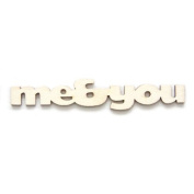 "Fancy Pants Artist Edition ""Me and You"" Wooden Phrase Embellishments"