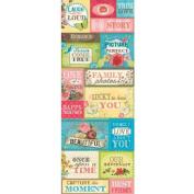 K & Company Serendipity Embossed Stickers