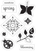 Flutter Clear Stamps 7.6cm x 11cm Sheet-