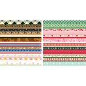 Martha Stewart Crafts Holiday Border Pad, 12 Sheets, 15cm by 30cm