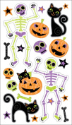Sticko Black Cats and Skeletons Stickers