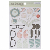 Cut & Paste Flair Chipboard Stickers-Wow