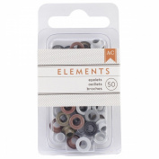 Elements Eyelets .4760cm 50/Pkg-Metallic
