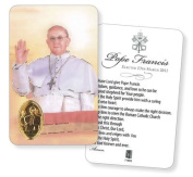 Pope Francis of Assisi Prayer Verse Card With Medal