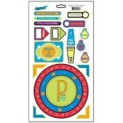 Pet Feathers Scales & Furs Cardstock Scrapbook Stickers