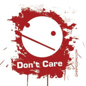 """Don't Care"" Sticker"