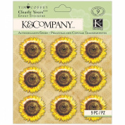 K & Company Scrapbooking Stickers, Tim Coffey Foliage Sunflowers Clearly Yours
