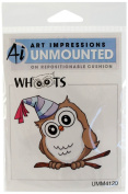 Art Impressions Birthday Whoot Rubber Stamp