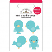 Doodle-Pops Embellished 3-D Cardstock Sticker-Mini Bluejays