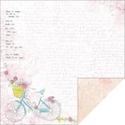 Kaisercraft - Pink Gelato - 12x12 Scrapbook Paper - Vanilla
