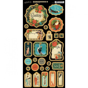 Graphic 45 Couture Chipboard 1 Tags