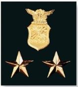 K & Company Insignia Metal Charms-Air Force