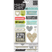 me & my BIG ideas Pocket Pages Chipboard Stickers, Love