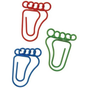 Paper Clips Carded-Feet Shaped 20/Pkg