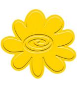 Sizzix Embosslits Die -Flower W/Swirl Centre