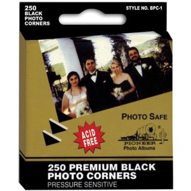 250 Black Corners - Photo Corners & Squares - Sold individually