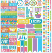 Reminisce Happy Easter 12x12 Scrapbook Variety Sticker Sheet
