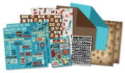 Karen Foster Design Themed Paper and Stickers Scrapbook Kit, My Best Friend