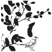 ART WAREHOUSE Blooming Tree Top Wood Rubber Stamp