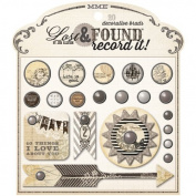 My Minds Eye - Lost & Found - Record It - Antique - Decorative Brads