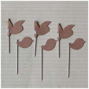 Vintage Trinket Pins 20/Pkg-Kraft Birds
