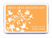 Hero Arts Rubber Stamps Soda Mid-Tone Shadow Ink Stamp Pad, Orange