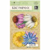 K & Company Scrapbooking Layered Accents, Tim Coffey Foliage Floral