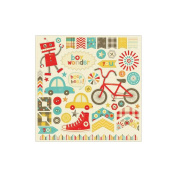 Boy Crazy Cardstock Accessories Stickers 30cm x 30cm -