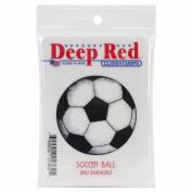 Deep Red Cling Stamp 5.1cm x 5.1cm -Soccer Ball