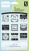Inkadinkado Inchies Clear Stamps