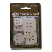Maya Road Decorative Buttons Chipboard Set