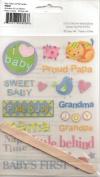 Baby Polka Dot Pig Rub-ons for Scrapbooking