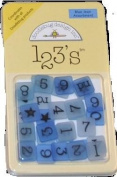 Doodlebug Designs 123's Acrylic Square Blue Jean Assortment
