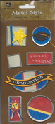 Graduation Dimensional Metal Edge Tag Scrapbook Stickers