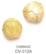 GREEN CABBAGE - Ceramic Vegetable - Pack of 12