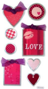 Metal Edge Love Tags Dimensional Scrapbook Stickers