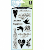 Inkadinkado Clear Stamps-Hearts & Love
