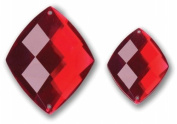 Bazzill Basics Baubles 2/Pkg-Diamonds 40mm & 28mm/Ruby