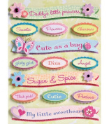 KCompany 362323 Sparkly Sweet Grand Adhesions Embellishments-Words Phrases
